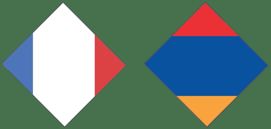 Drapeaux France Arménie